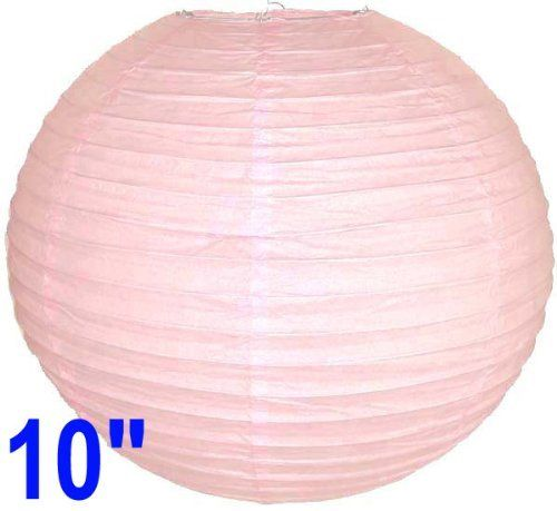 """Pale Pink Chinese/Japanese Paper Lantern/Lamp 10"""" Diameter - Just Artifacts Brand by Just Artifacts. $1.09. Great for party and home decoration. Check Just Artifacts products for more available colors/sizes."""