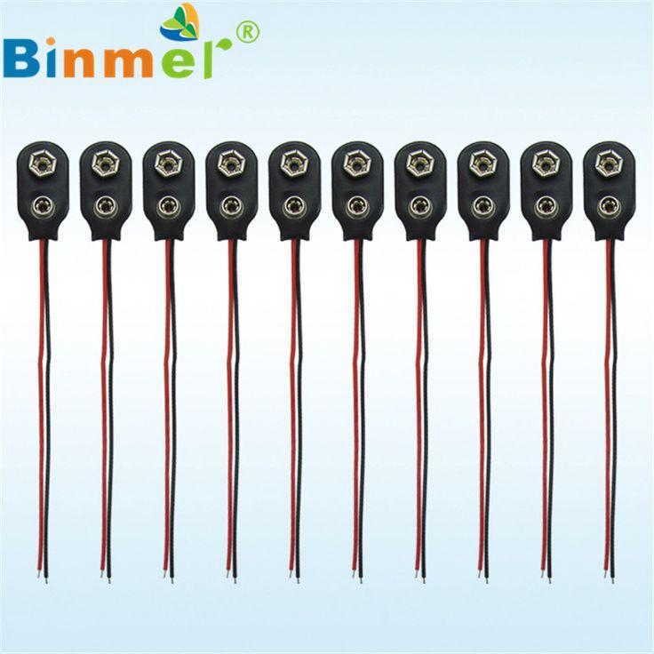 Precio de fábrica Binmer Nuevo 10 unids PP3 MN1604 9 V Batería Sostenedor Del Clip Del Broche de 9 voltios En El Conector del Cable de Plomo Envío de la gota