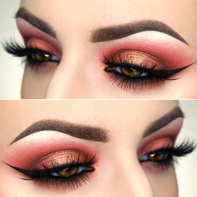 18+ Cool Makeup Looks for Hazel Eyes and a Tutorial for Dessert ★ Festive Ideas for Hazel Eyes Makeup picture 5 ★ See more: http://glaminati.com/hazel-eyes/ #makeup #makeuplover # makeupjunkie #makeupideas #hazeleyes #eyesmakeup #makeuptutorial