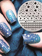 2016 dernières ongles motif étoile version fashion art plaques de modèle d'image estampage