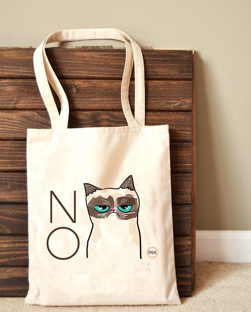 Grumpy Cat Bez Çanta
