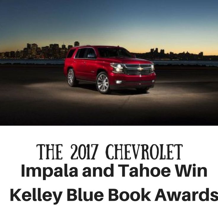 The 2017 Chevrolet Impala and the 2017 Chevy Tahoe are both winners in the annual Kelley Blue Book Best Buy Awards. Shoppers looking for a full-size sedan or a full-size SUV in the Homewood area should come check out these two top models.