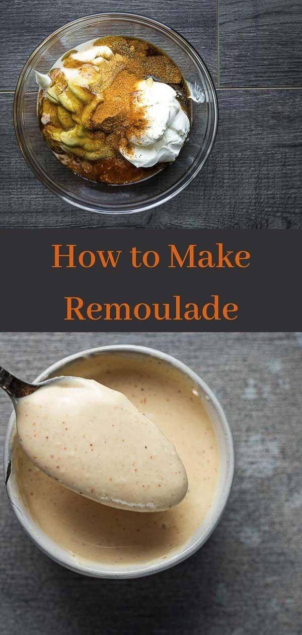 Spicy Cajun Remoulade Sauce Recipe Recipe Remoulade Sauce Crab Cake Sauce Remoulade