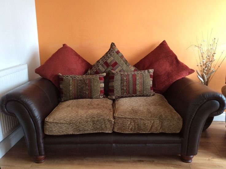 Santiago: 2 Seater Pillow Back Split Sofa, Chair and Storage Footstool