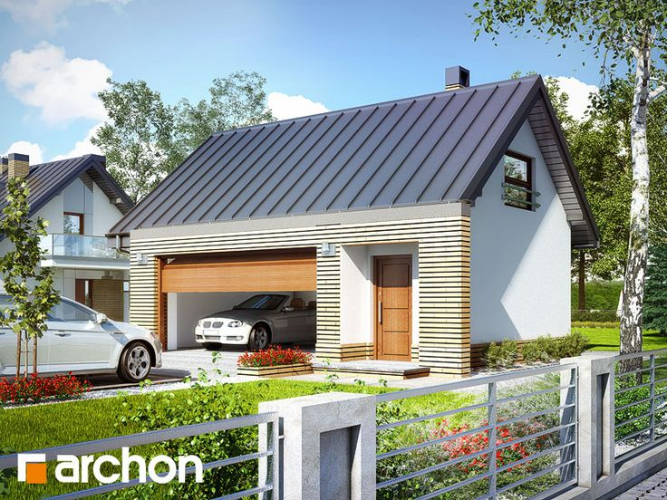 projekty domů, Garáž pro dvě vozidla G15 - ARCHON+ Projekční kanceláře - archonplus.cz - Prodej hotových projektů, projekty domů