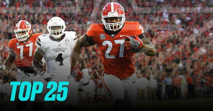 Week 5 college football rankings: Georgia enters human top-10s - SB Nation