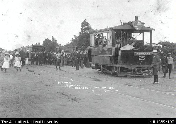 accident on the Ashfield/ Burwood/ Mortlake/ Cabarita tramway 1907