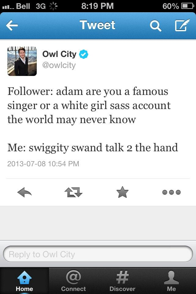 Owl City tweet