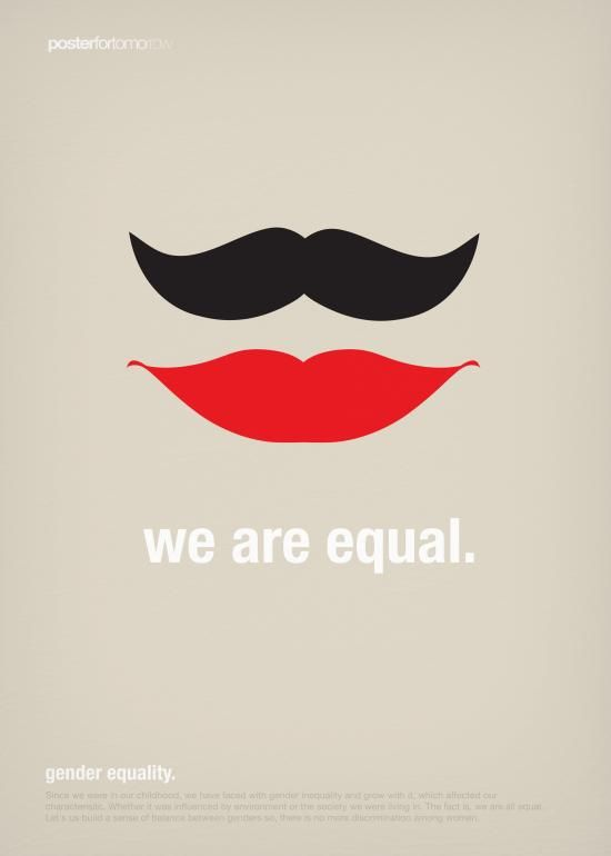 This is a series posters. Since we were in our childhood, we have faced with gender inequality and grow with it, which affected our characterisitc. Whether it was influenced by environment or the ...