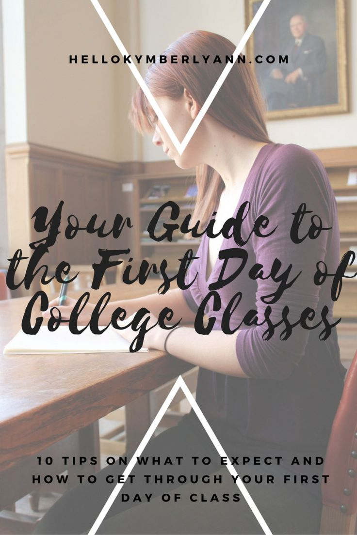 Your Guide to the First Day of College Classes » Hello Kymberly Ann