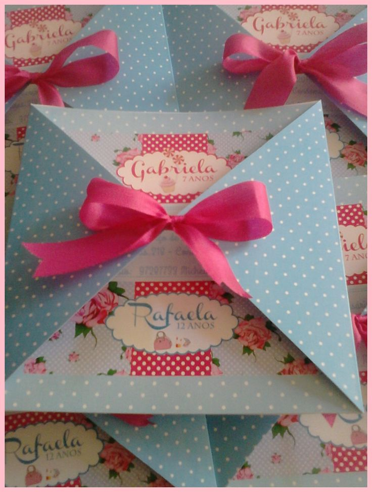 Convite infantil - Pink and Blue