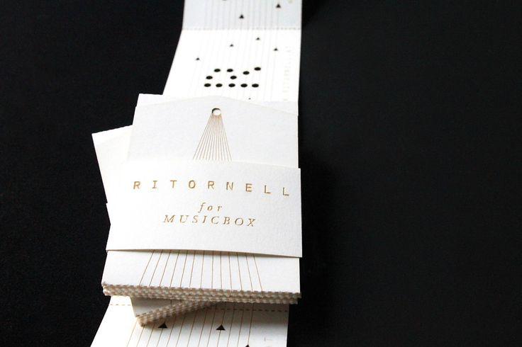 Music Box Business Cards: Business Cards, Cards Concepts