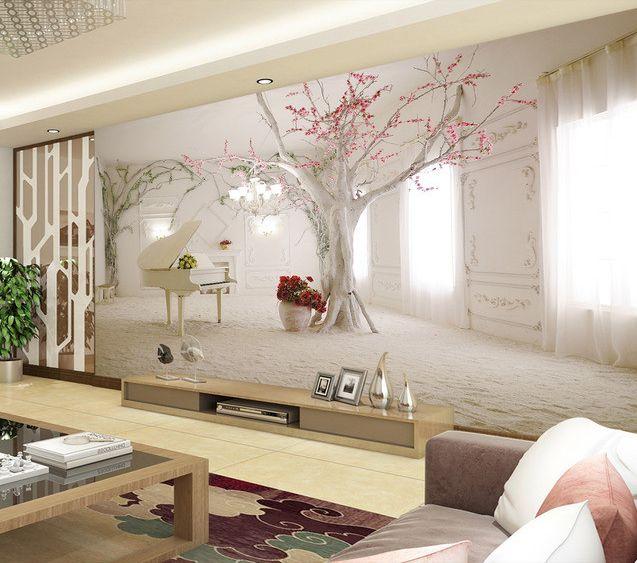 scène d'une pièce théâtre papier peint romantique extension d'espace
