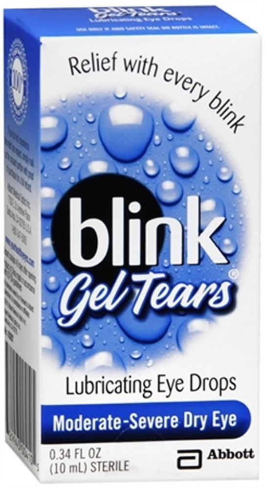 Blink Gel Tears Lubricating Eye Drops 10 mL for Moderate-Severe dry eyes #blink