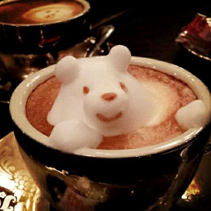 Latte Art Bear