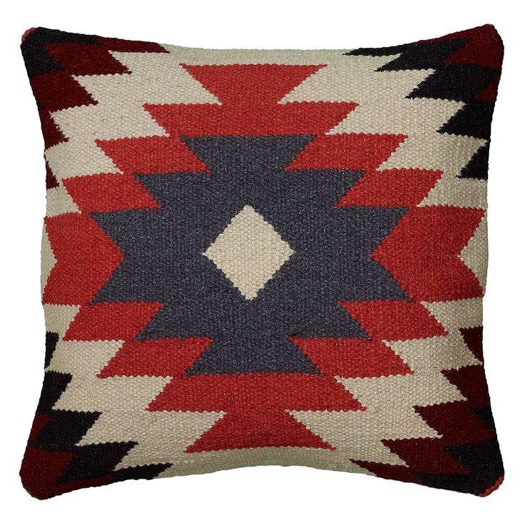 Rizzy Home Colorful Southwestern Throw Pillow, Orange