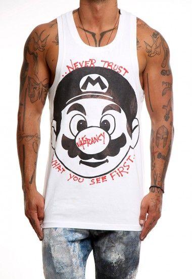 never trust white #vagrancylifestyle #handmade #top #man #sleeveless #tshirt