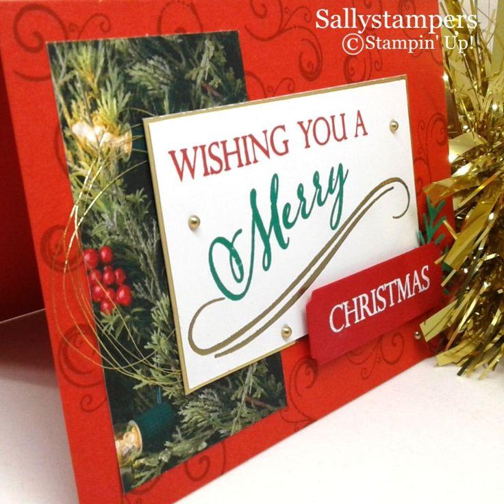 Fröhliche Weihnachten an alle. Eine helle, traditionelle, einfache Weihnachtskarte. Independen …   – 2018 Stampin projects