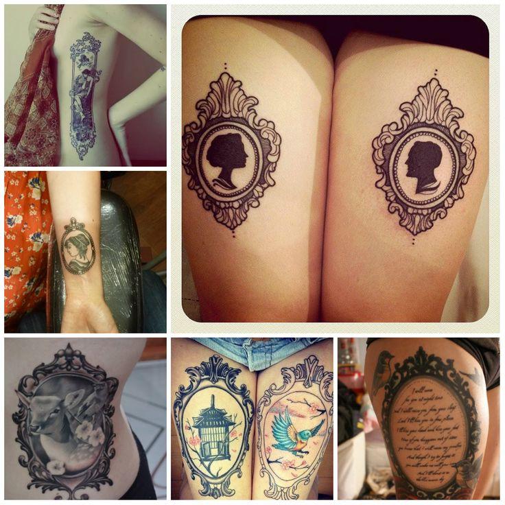 vintage frame tattoos