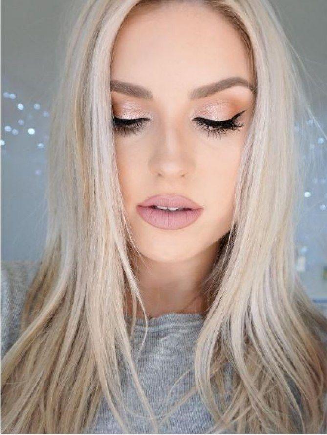 Alerte make-up : e rose gold est définitivement la couleur du moment ! A utiliser en toute subtilité avec un joli trait d'eye-liner pour le maquillage des yeux..