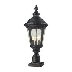 Lowes $194 Z Lite Medow 26.75 In H Black Post Light