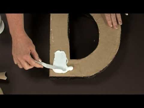 Follow along with this step by step video to make your own Architectural Letters!