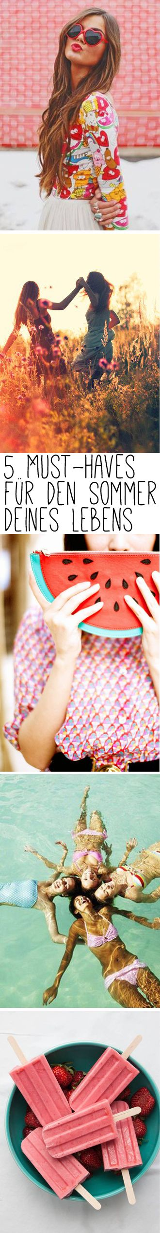 5 Must-Haves für den Sommer deines Lebens! Jetzt auf http://www.gofeminin.de/modetrends/must-haves-sommer-s1402512.html #musthaves #summer #love #fun #erdbeereis #sonne #fashion #style