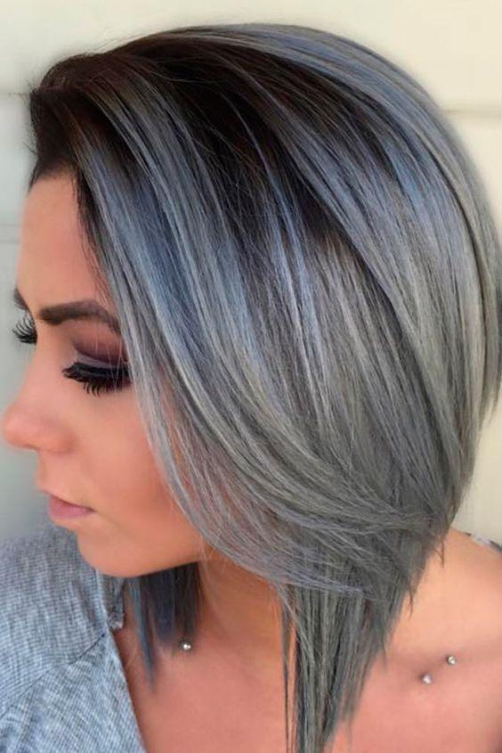 Graphite Grey ! Diese 10 Kurzhaarfrisuren in dunklen Grautönen sehen MEGA aus! – Damen Frisuren