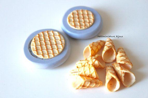 Stampo Silicone Flessibile cono gelatoMiniature di PetitMiniatures