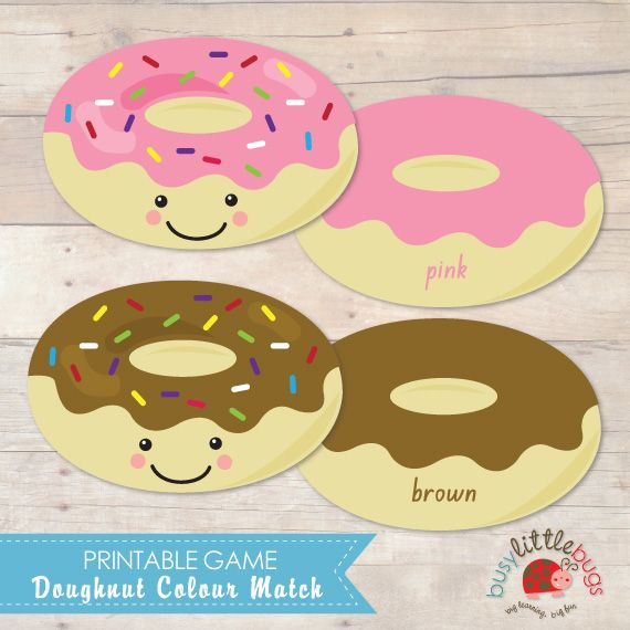 Doughnut Color Match (free; from Busy Little Bugs)