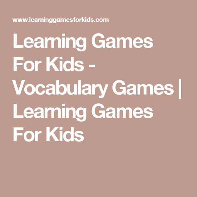 Learning Games For Kids - Vocabulary Games | Learning Games For Kids
