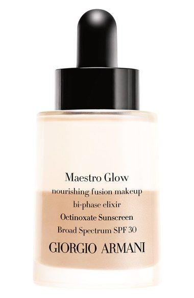 Giorgio Armani 'Maestro Glow' Nourishing Fusion Foundation Bi-Phase Elixir Broad Spectrum SPF 30 available at #Nordstrom