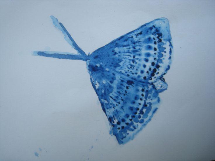 Papillon à l'aquarelle