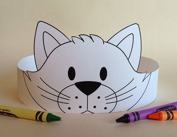 Cat Crown COLOR YOUR OWN Printable por PutACrownOnIt en Etsy