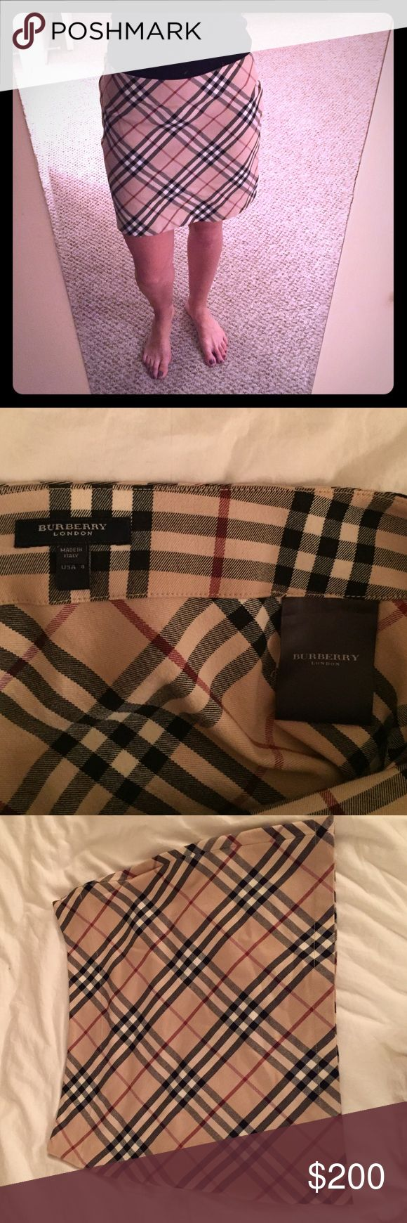 Burberry size 4 classic print skirt! Authentic Burberry classic print skirt. Size 4. Perfect condition! Only worn twice! Burberry Skirts