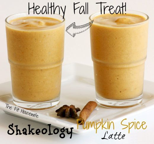 shakeology pumpkin spice latte Healthy Pumpkin Spice Latte.....the interesting thing here is they add espresso
