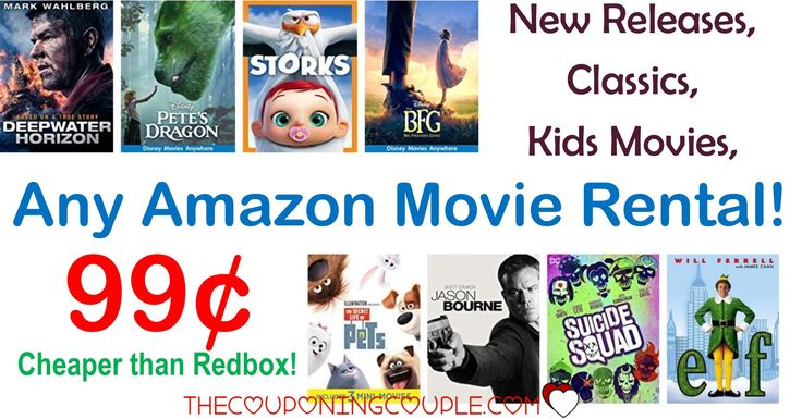 WOOHOO! Awesome time for a movie night! Get ANY AMAZON MOVIE RENTAL for only $0.99! Watch a new release, a classic, a family movie or so much more! Cheaper than renting a movie at Redbox!  Click the link below to get all of the details ► http://www.thecouponingcouple.com/any-amazon-movie-rental/ #Coupons #Couponing #CouponCommunity  Visit us at http://www.thecouponingcouple.com for more great posts!