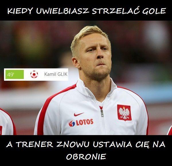 Memy po meczu Polska Dania • Kamil Glik czyli kiedy uwielbiasz strzelać gole a trener znowu ustawia Cię na obronie • Wejdź i zobacz >> #polska #pol #pilkanozna #futbol #sport #memy