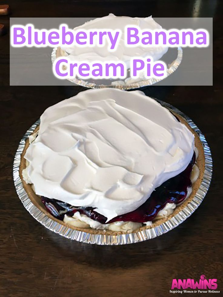 This easy to whip up Blueberry Banana Cream Pie recipe will be a crowd pleaser at your next summer party!  Be sure to bring alone the recipe because everyone will be asking for it!