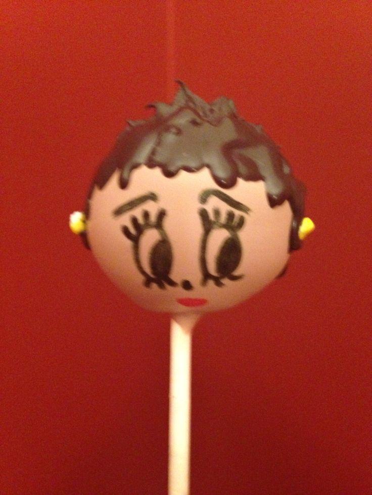 Betty Boop cake pop