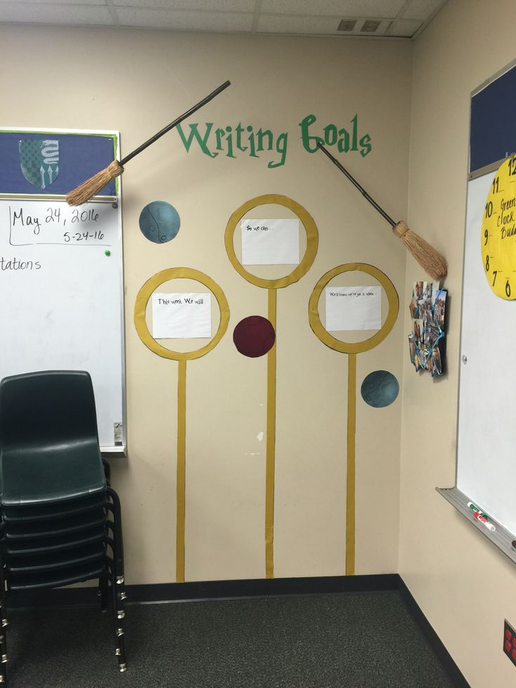 Harry Potter Classroom writing goals