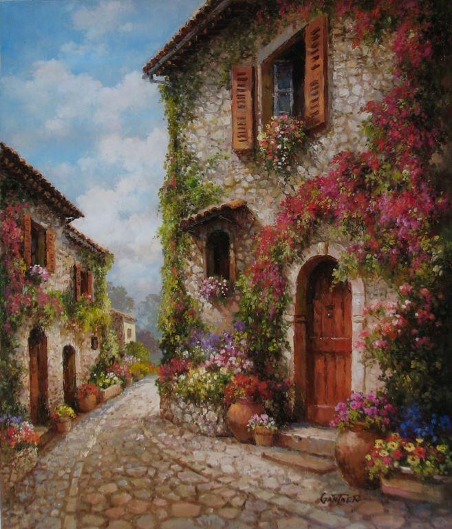 The Art of Paul Guy Gantner Cobblestone Villa