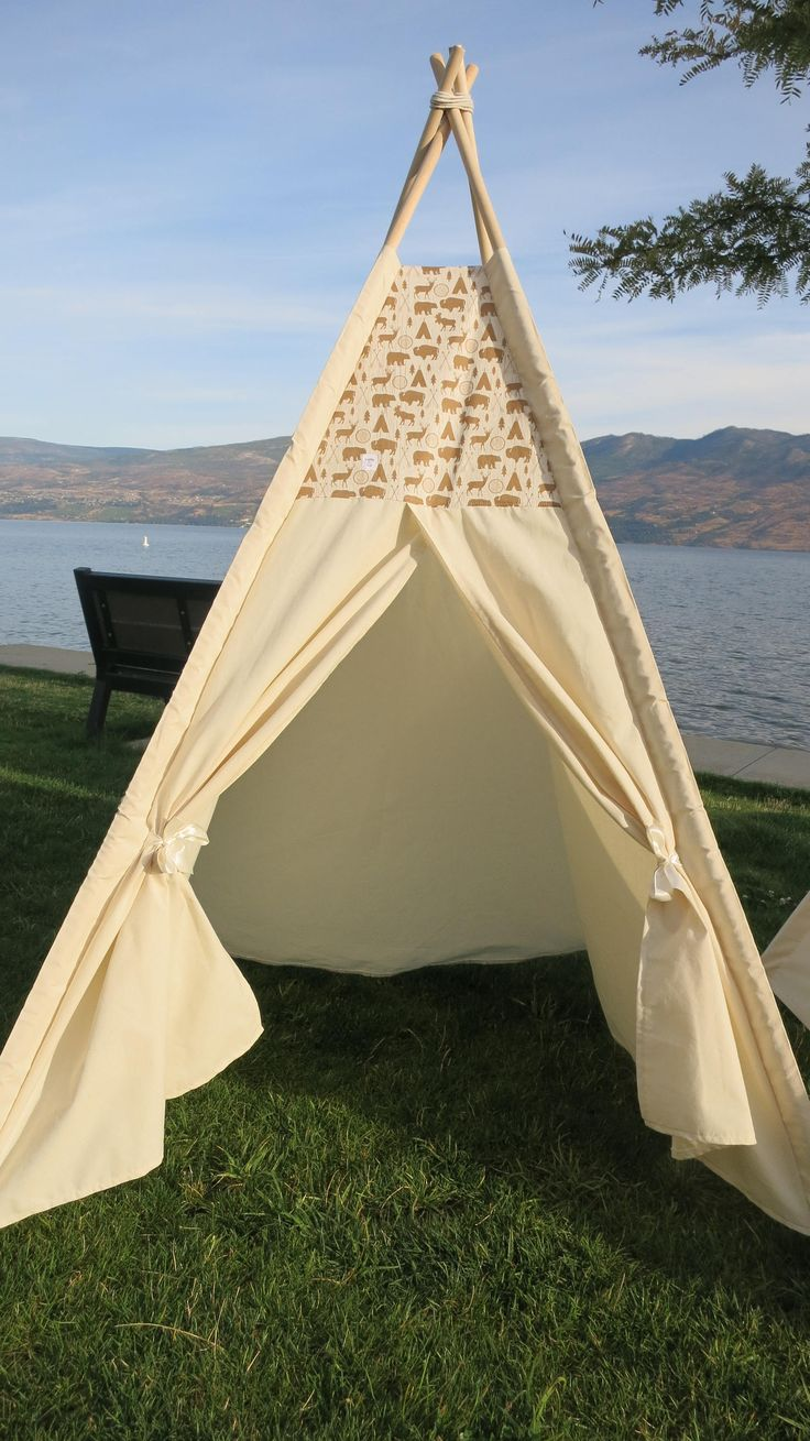 Outdoor Bear Accent Teepee Tent by PennyandLuna on Etsy