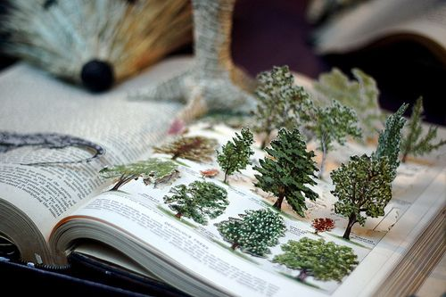 beautiful, creative way to repurpose a book.