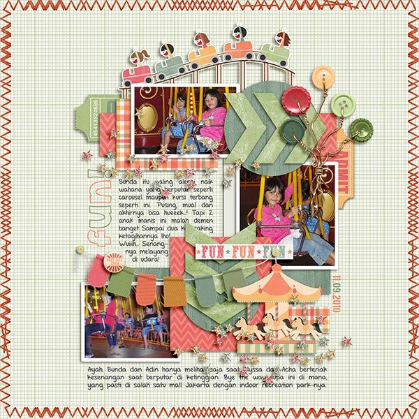 Carnival Ride [Bundle Pack] by Pixelily Designs.  Away with the Fairies by Little Green Frog Designs (retired template).