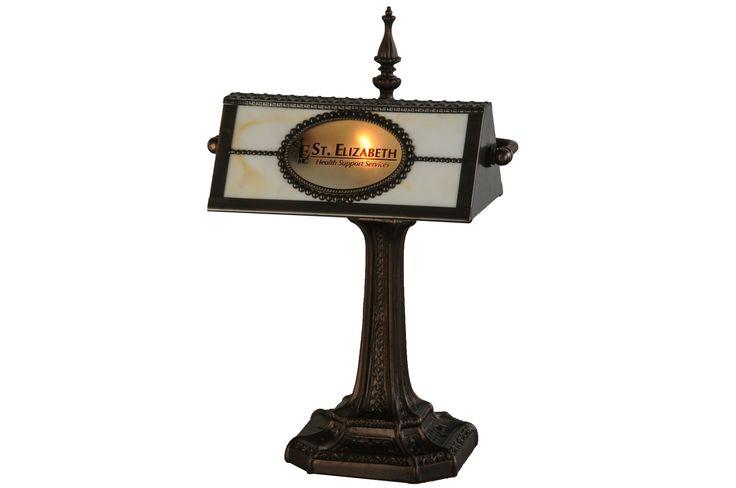 "Meyda 17""H Personalized St. Elizabeth'S Hospital Banker'S Lamp"