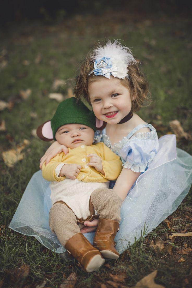 Sibling costumes. Cinderella and Gus Gus