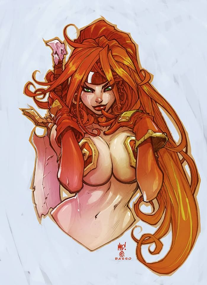 Red Monika by Joe Madureira and Ben Basso *