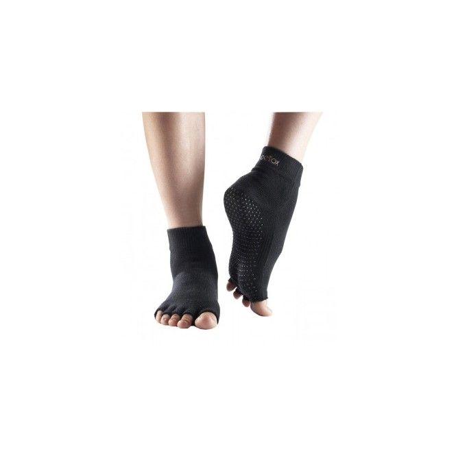 Teen Sokken Ankle zwart open tenen