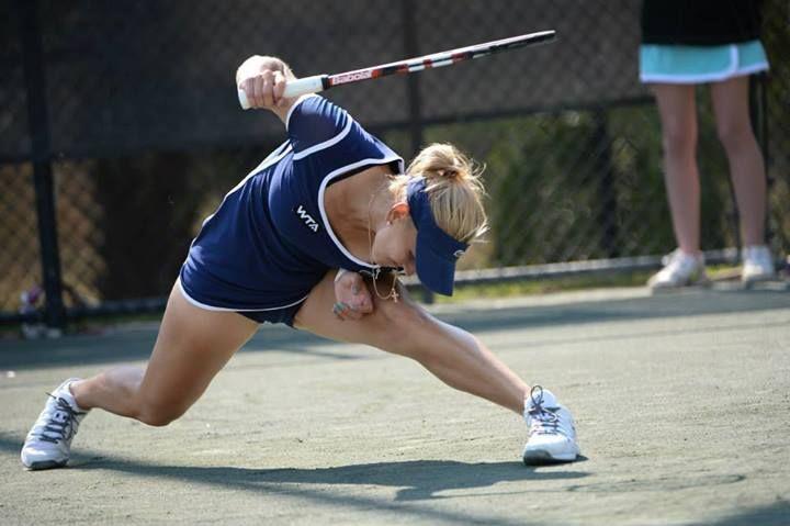 Elena Vesnina in her Match at the Family Circle Cup 2014 #WTA #Vesnina #FCC2014